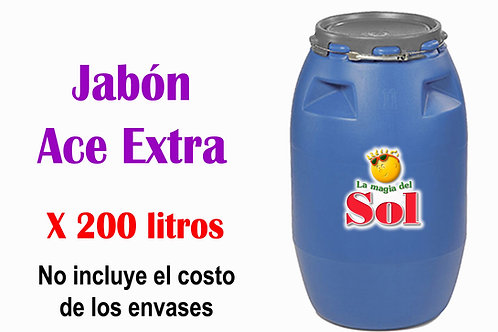 Jabón Ace Extra X 200 Litros
