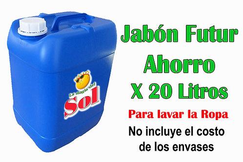 Jabón Futur Ahorro X 20 Litros ($ 57,60 X Litro)