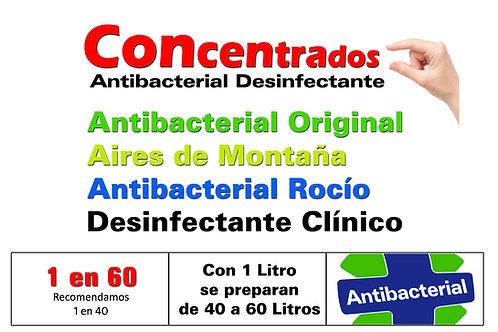 2 Unidades Concentrado Antibacterial X 1 Litro ($ 1325 c/u)