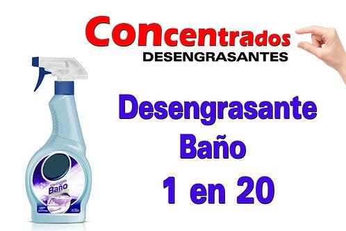 Concentrado Antigrasa Baño 1 en 20 X 1 Litro