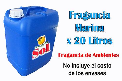 Fragancia Marina X 20 Litros ($ 153 x Litro)
