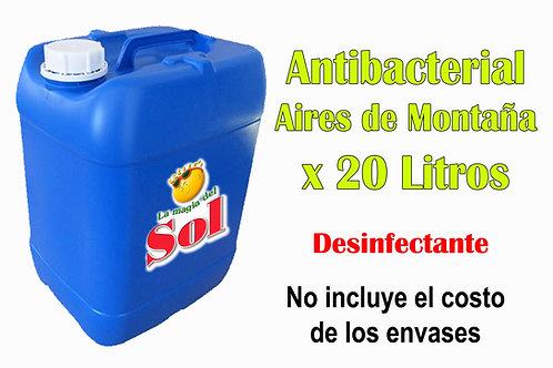 Antibacterial Aires de Montaña X 20 Litros ($40,50 x Litro)