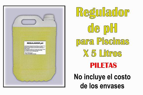 Regulador de pH para Piscinas X 5 Litros
