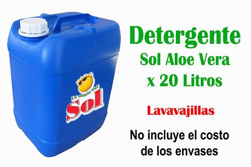 Detergente SOL Aloe Vera X 20 Litros ($44,01 x Litro)