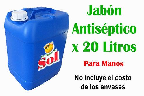 Jabón Antiséptico para Manos X 20 Litros ($ 80,00 x Litro)