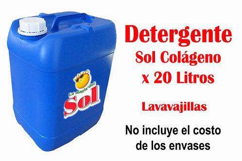 Detergente SOL Colágeno X 20 Litros ($44,01 x Litro)