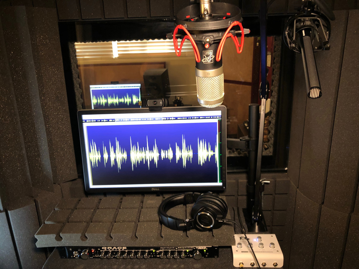 Voice Actor Recording Booth