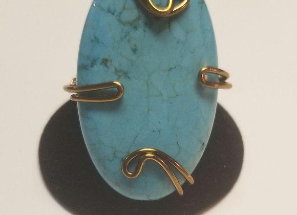 Jumbo turquoise ring