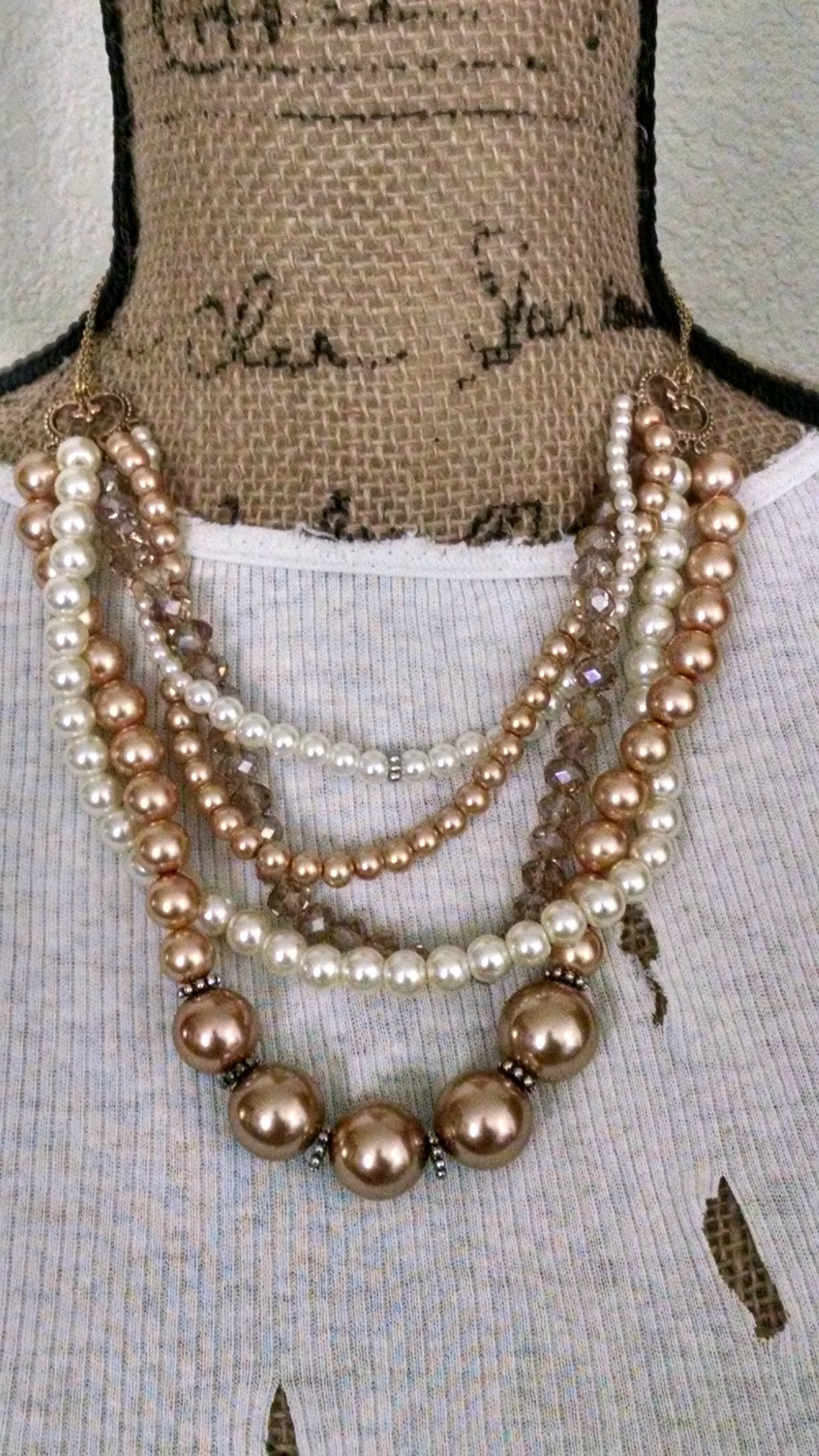Gold Glass Pearls