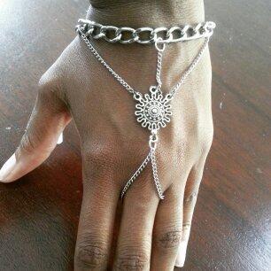 Ray of sun silver bracelet