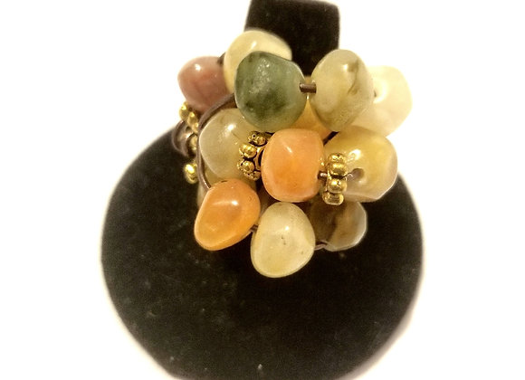 Multicolored cluster ring