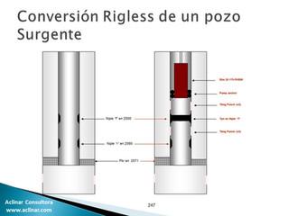 Conversión Rigless de un pozo surgente a Bombeo Mecánico