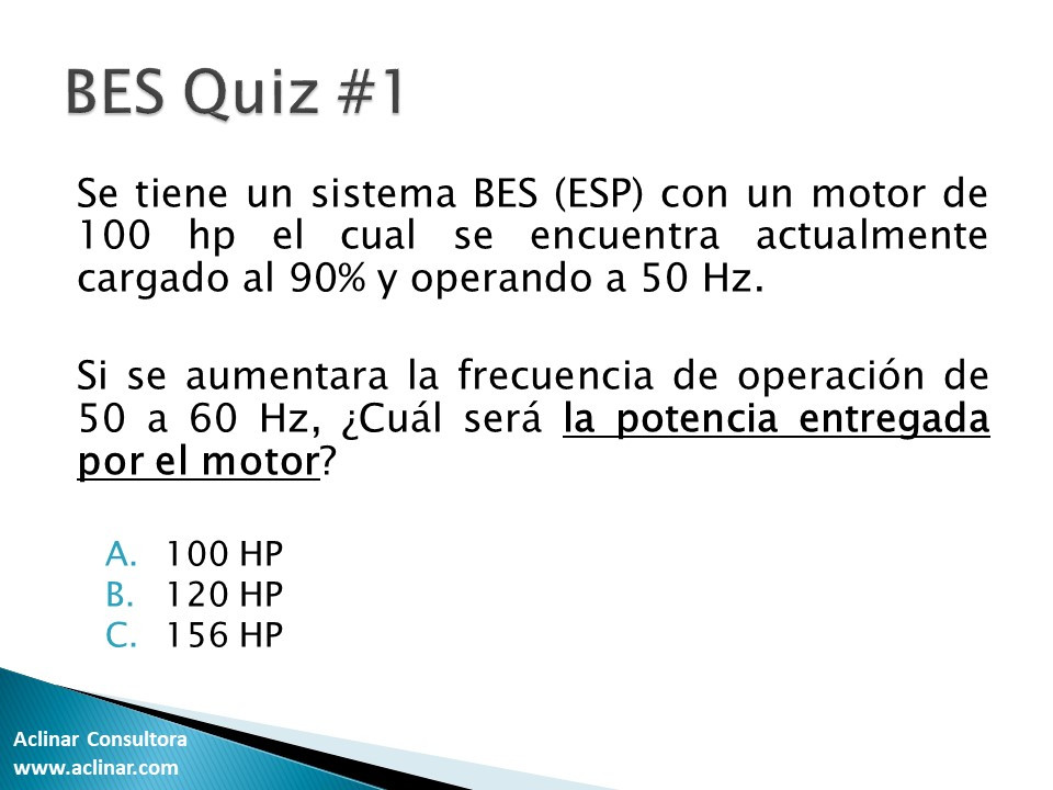 bomeo electro sumergible (BES ESP)