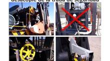 Sistema Mecánico de acople y desacople de traba de seguridad a Distancia para AIB