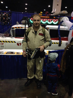 Eric with the Ecto-1A