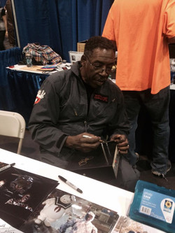 Ernie autographing our Ecto's radio