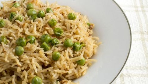 Easy Pilau Rice with Peas