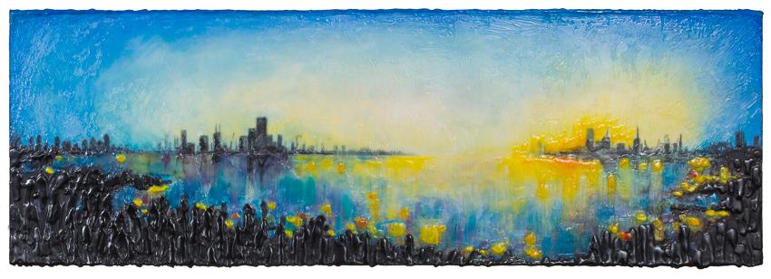 VENDU- La ville bleue