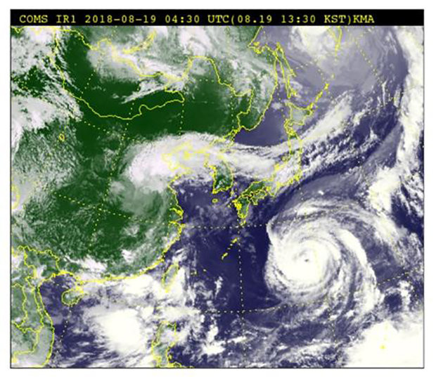 Weather photo of a typhoon