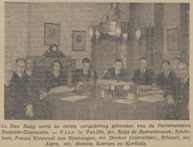 Vergadering van de Parlementaire Enquêtecommissie