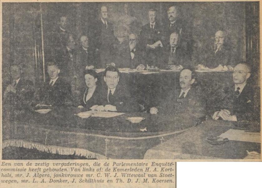 Vergadering Enquêtecommissie