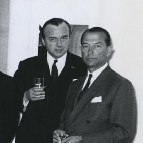 Gerard Dogger en Hans Larive in 1965