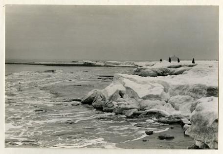ijzig strand