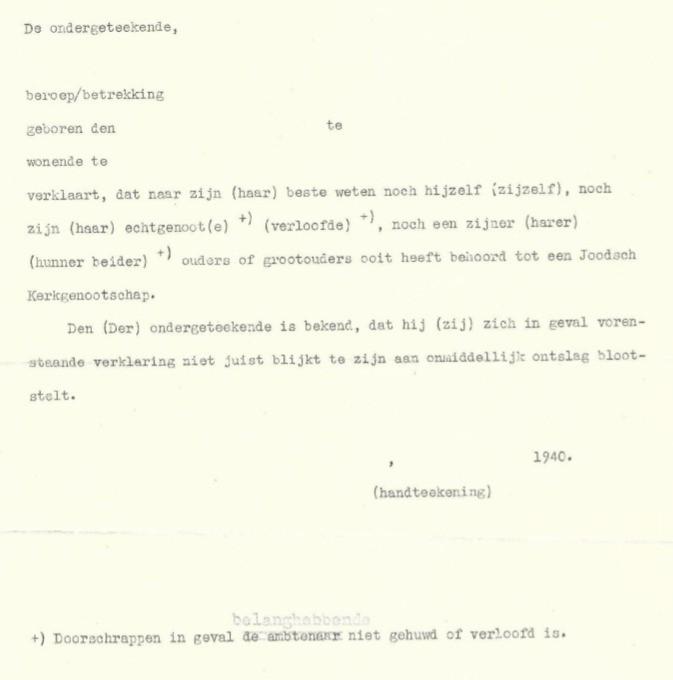 Ariërverklaring 1941