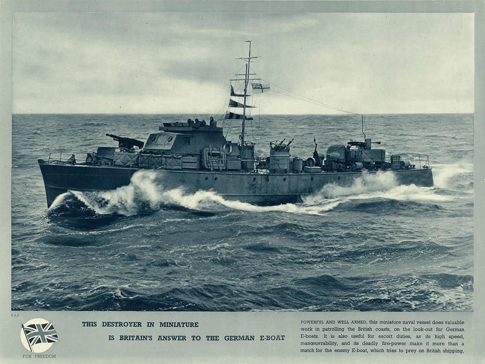 Poster met Motor Gun Boat