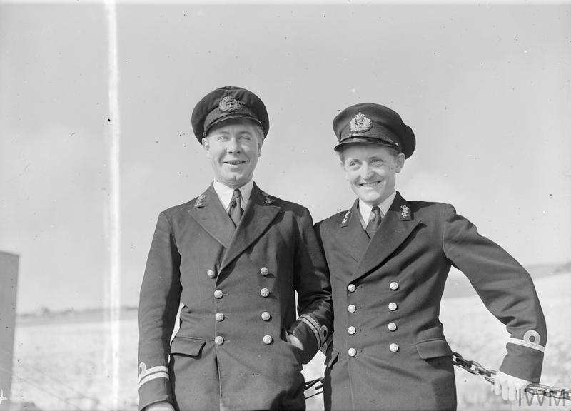 Hans Bommezijn als commandant van een motor torpedo boat in Engeland