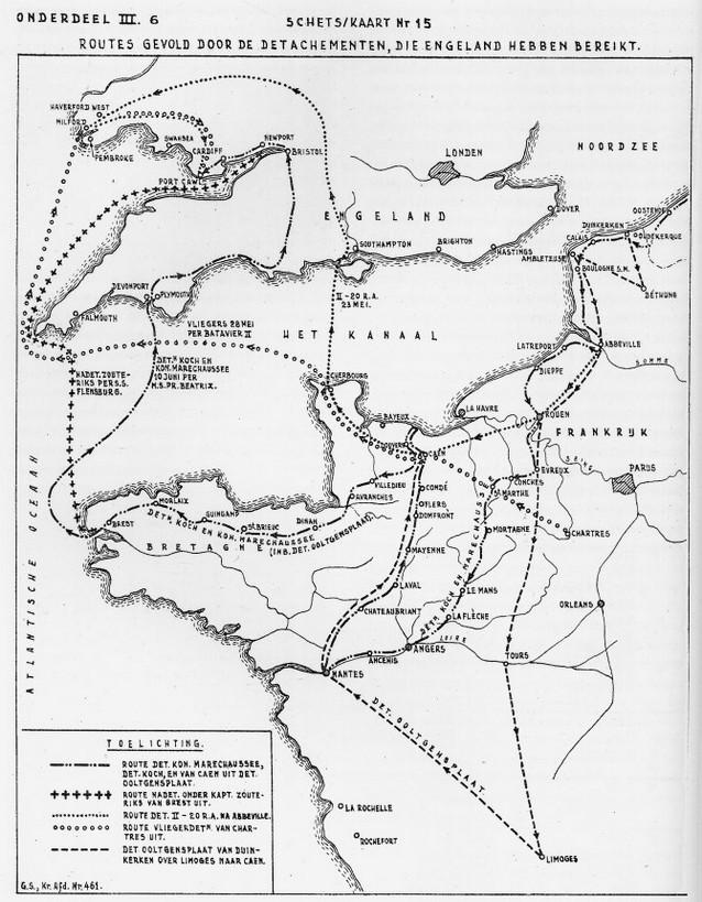 Routes naar Engeland
