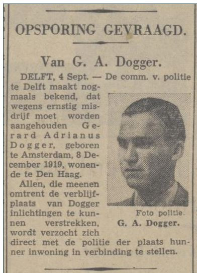 Doggers opsporingsbericht 1941