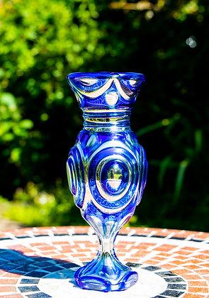 Rare Mercury Glass Vase Signed E Varnish 1850
