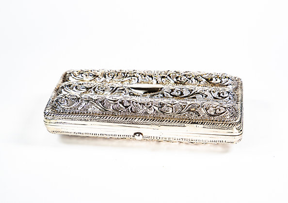Antique Anglo Indian Colonial Silver Cigar Case Kutch 1900 Super Quality