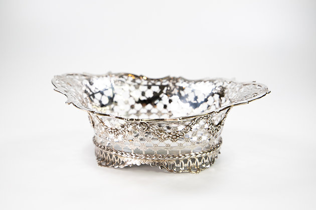Silver Jali Fretwork Bowl Superb Quality Sheffield 1895