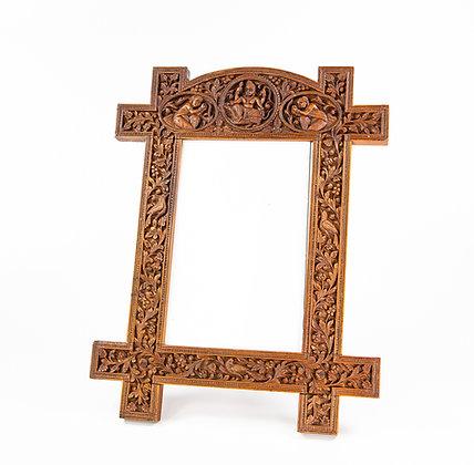 Carved Indian Sandalwood Frame Mysore Karnataka 1875