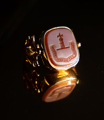 Georgian 15ct Rose Gold Intaglio Ring Double Sided