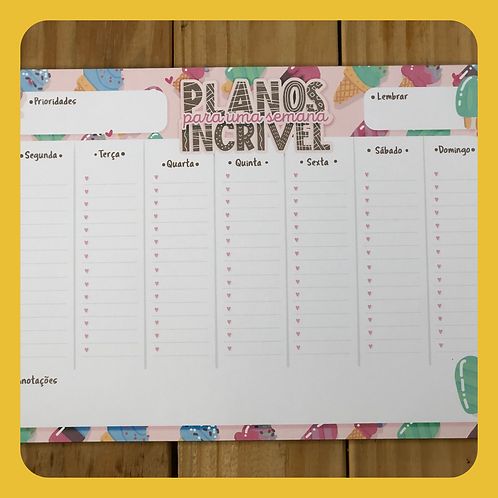 Desk Planner Planos Incríveis