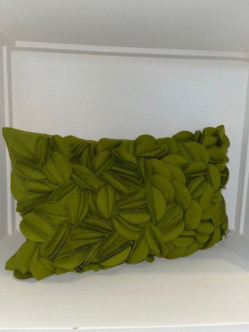 Kissen Wolle grün 30x50 cm mit Inlet