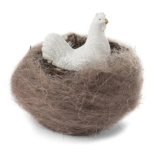 Huhn im Nest 6 cm