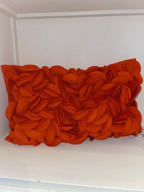 Kissen Wolle orange 30x50 cm mit Inlet
