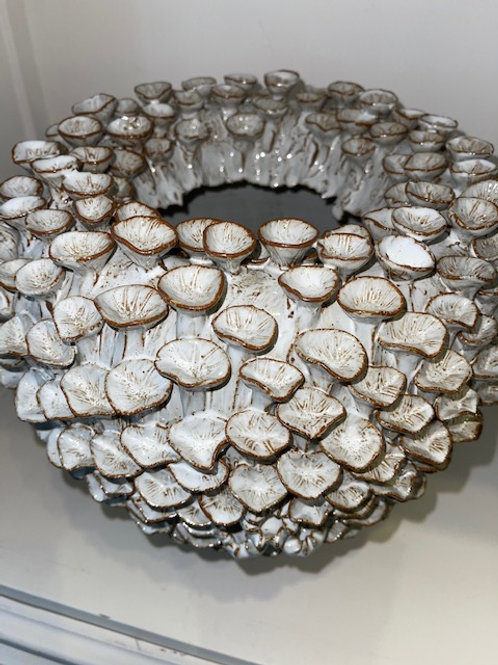 Vase Ø28x28 cm Keramik crème+weiß
