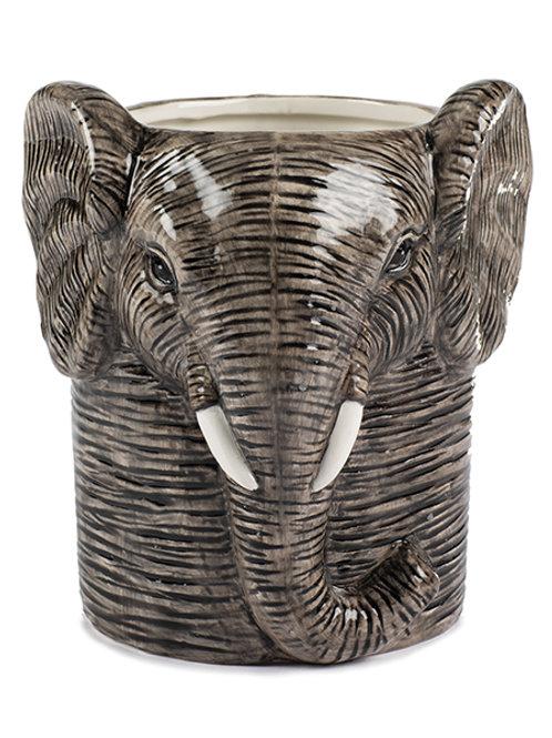 Vase Elefant Kopf 18 cm, Keramik
