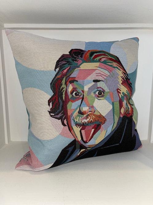 Kissen mit Albert Einstein Motiv 45x45 mit Inlet