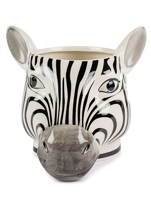 Vase Zebra Kopf 13 cm, Keramik