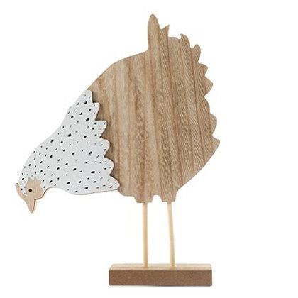 Huhn aus Holz 26 cm