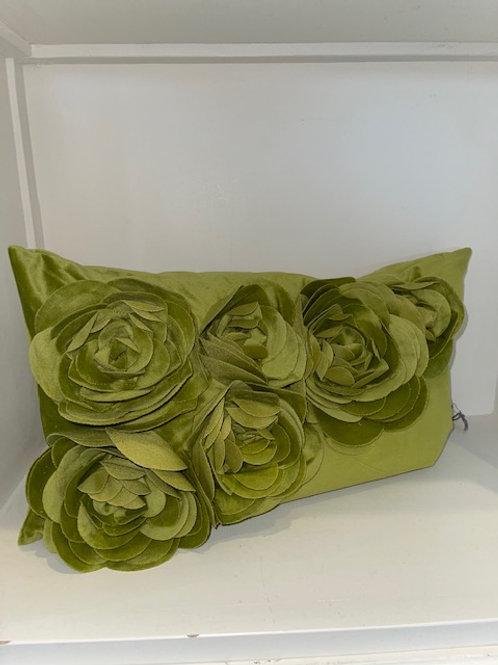 Kissen Samt grün 30x50 mit Inlet PAD-Concept