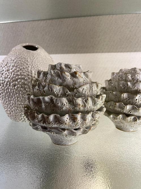 Vase silber, Keramik