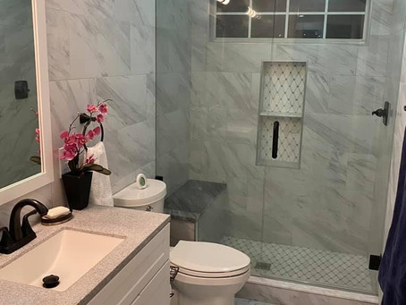 Complete Bathroom Remodel, Tile Wrap Around