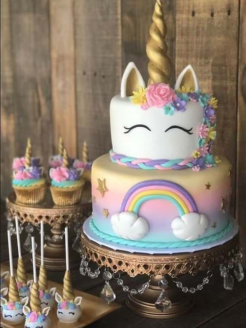 Unicorn Cake and Cupcake set